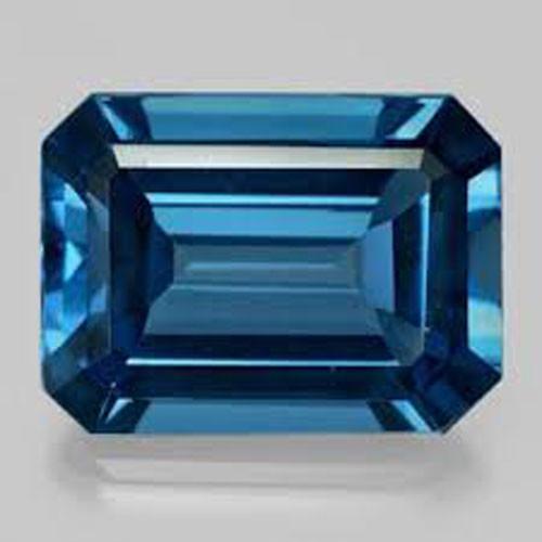 ~EMERALD CUT~ 3.87 Cts Beautiful Natural Baby Blue Topaz Brazil