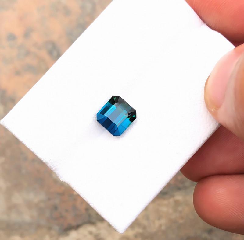 1.85 Ct Natural Blue Indicolite Transparent Tourmaline Ring Size Gemstone