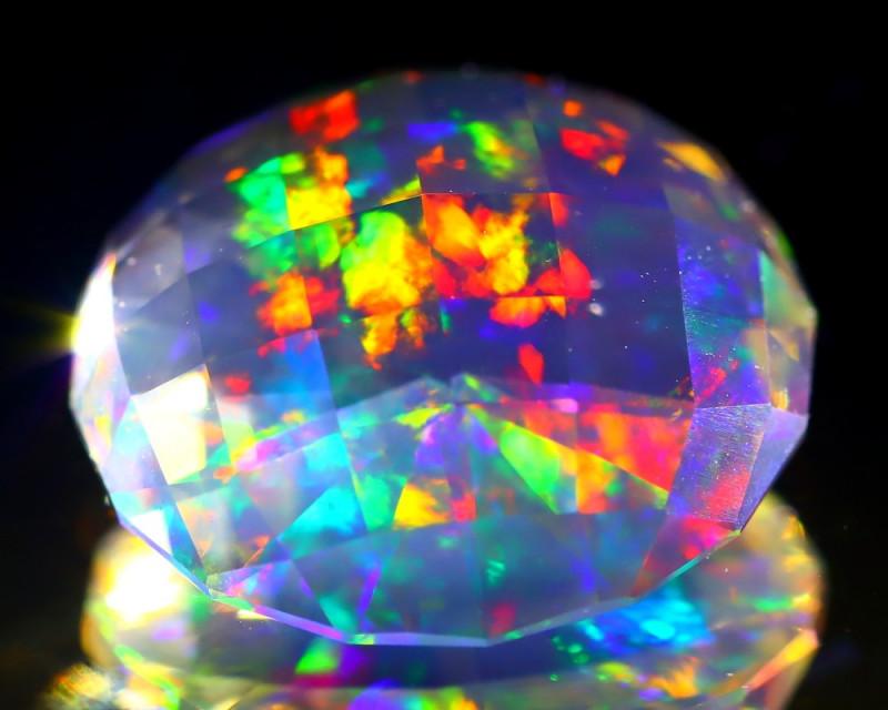 6.76Ct ContraLuz Precision Cut Mexican Very Rare Species Opal C1205