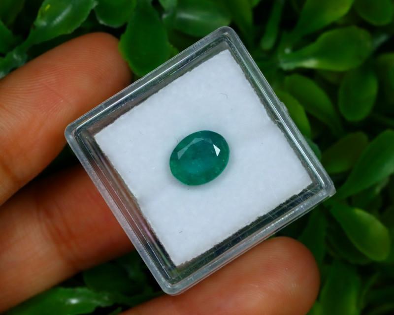 Emerald 1.78Ct Oval Cut Natural Zambian Green Color Emerald A1335