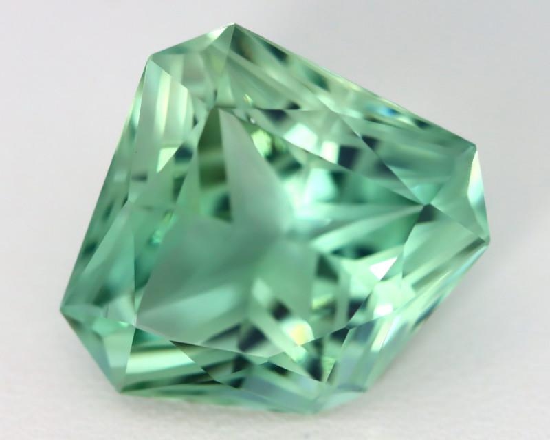 17.58Ct VVS Fancy Cut Natural Green Color Amethyst B1429