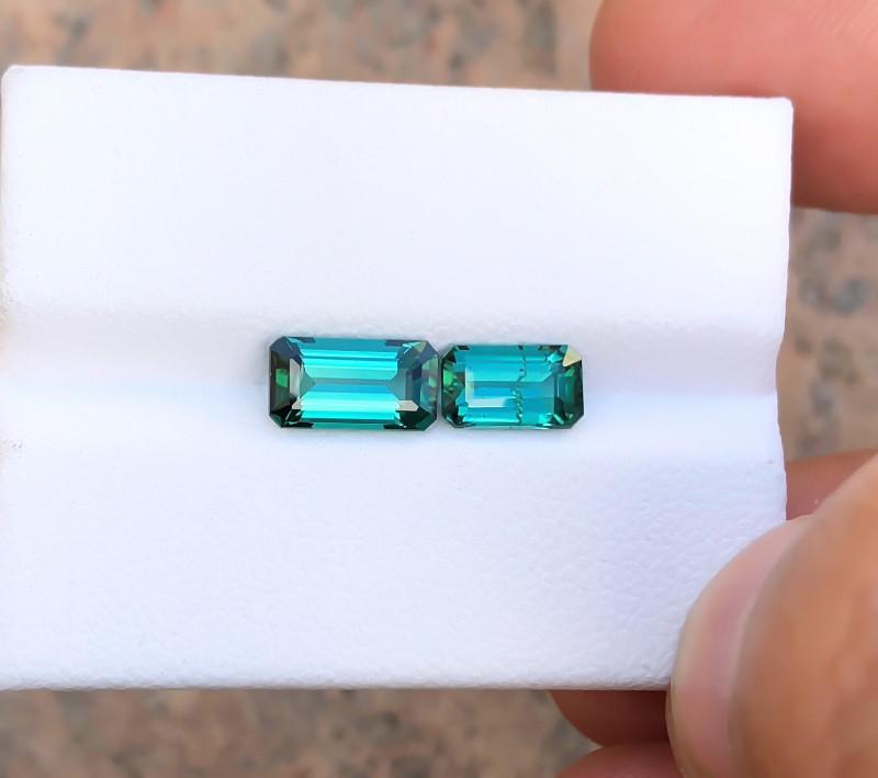 2.65 Ct Natural Blue Indicolite Transparent Tourmaline Gems Parcels