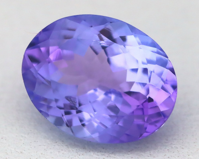 2.08Ct VVS Oval Cut Natural Vivid Purplish Blue Tanzanite A1617
