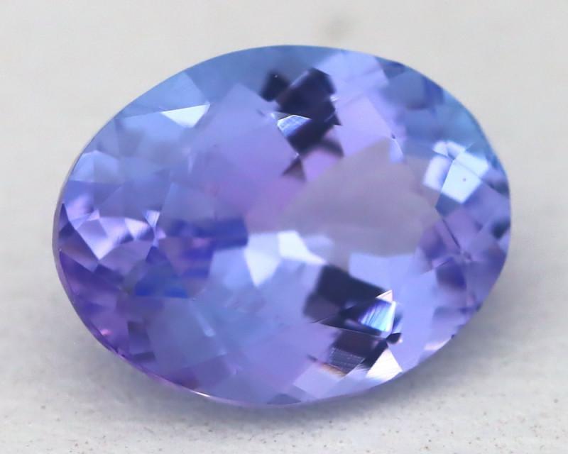 1.90Ct VVS Oval Cut Natural Purplish Blue Tanzanite C1536