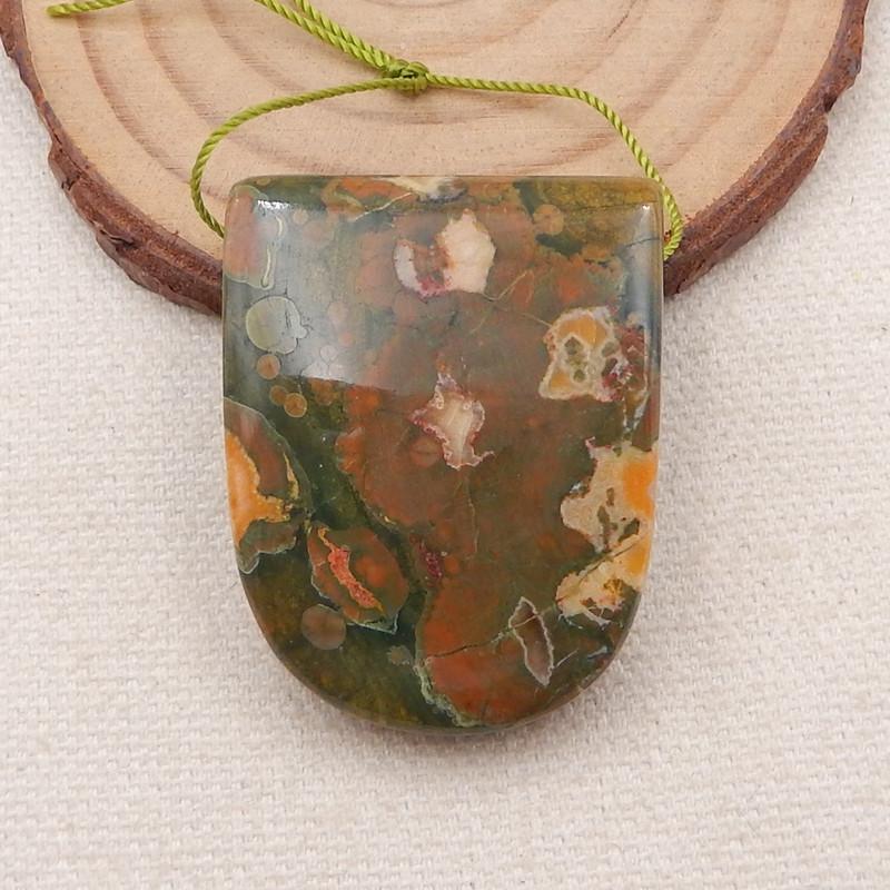 118.95 Ct Natural Rhyolite Gemstone Pendant Beads,Natural Gemstone P0017