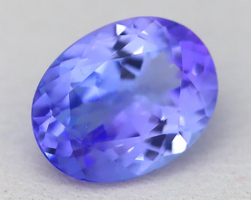2.18Ct VVS Oval Cut Natural Vivid Purplish Blue Tanzanite C1830