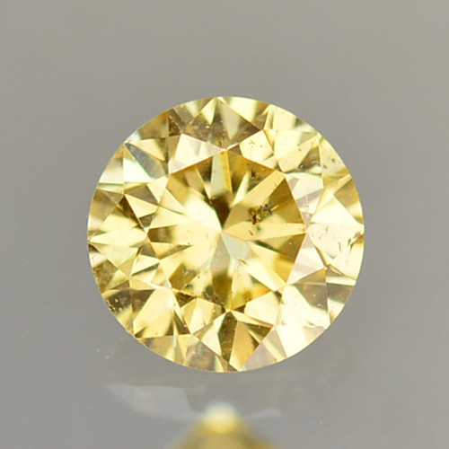 ~UNTREATED~ 0.09 Cts Natural Diamond Golden Yellow Round Cut Africa