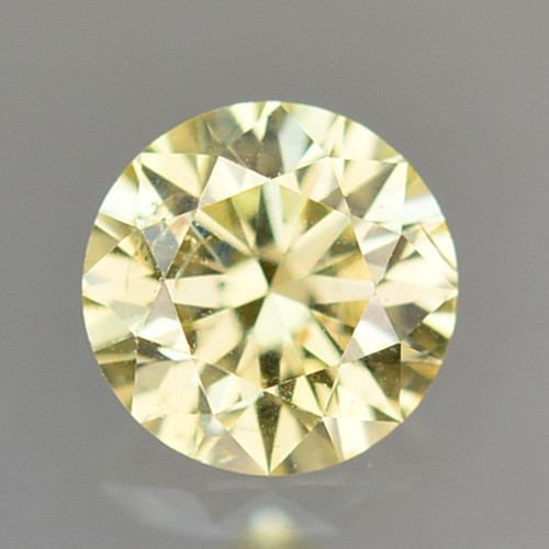 ~UNTREATED~ 0.12 Cts Natural Diamond Golden Yellow Round Cut Africa