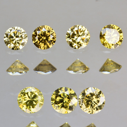 0.29 Cts Natural Untreated Diamond Fancy Yellow Round Cut Africa Parcel