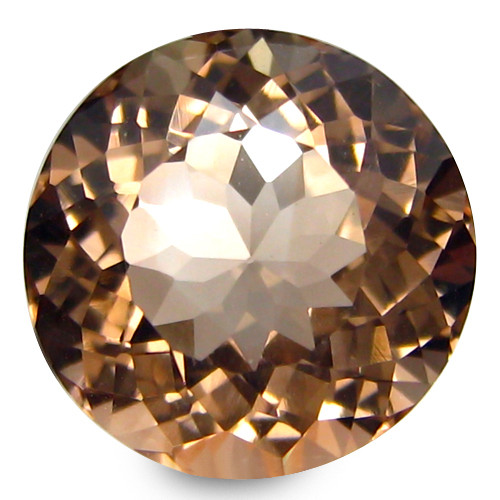 3.82Cts Beautiful Natural Peach Color Morganite Round Shape Loose Gemstone