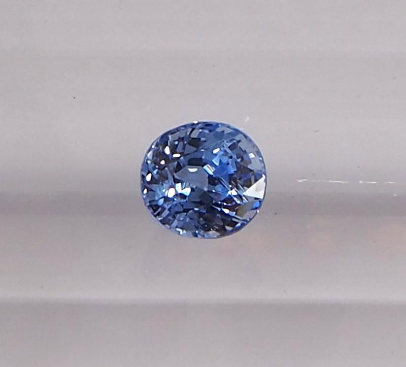 0.87ct clean unheated blue sapphire
