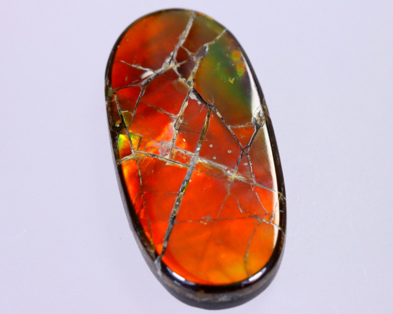 31x15mm,  22.31cts Natural Canadian Ammolite Stone / MA1773