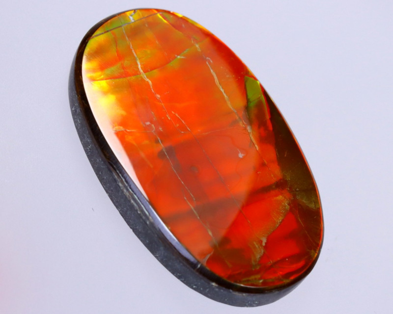 37x22mm,  48.53cts Natural Canadian Ammolite Stone / MA1775