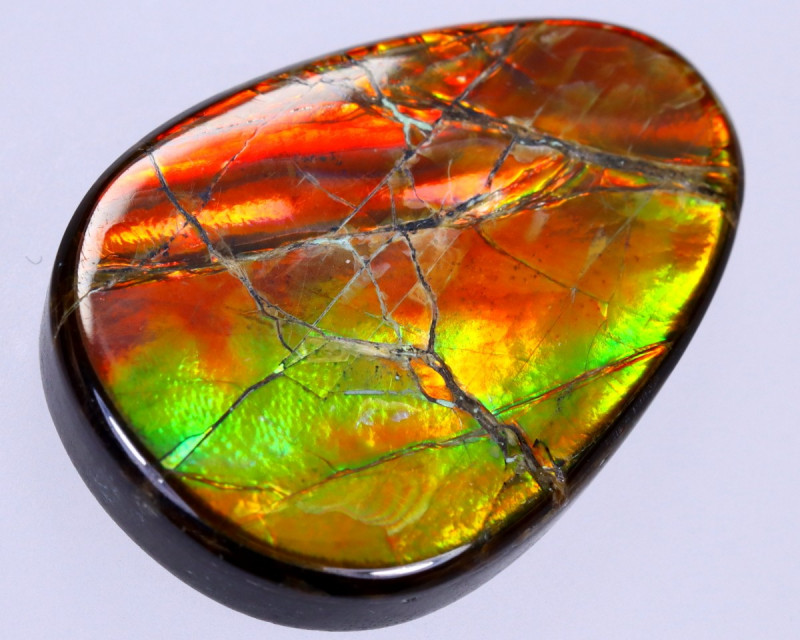 26x18mm,  22.70cts Natural Canadian Ammolite Stone / MA1788