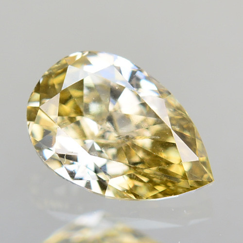 0.26Cts Natural Untreated Diamond Fancy Yellow Pear Cut Africa