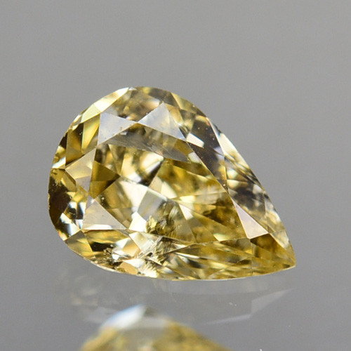0.22 Cts Natural Untreated Diamond Fancy Yellow pear Cut Africa