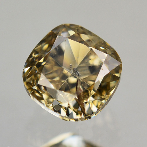 0.41 Cts Natural Untreated Diamond Fancy Yellow Cushion Cut Africa