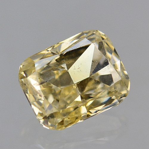 0.16 Cts Natural Untreated Diamond Fancy Yellow Cushion Cut Africa