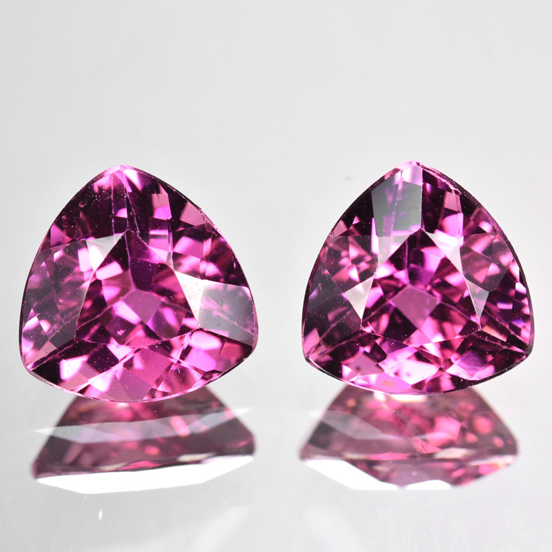 ~Matching Pair~ 4.25 Cts Natural Pink  Tourmaline 2Pcs Mozambique
