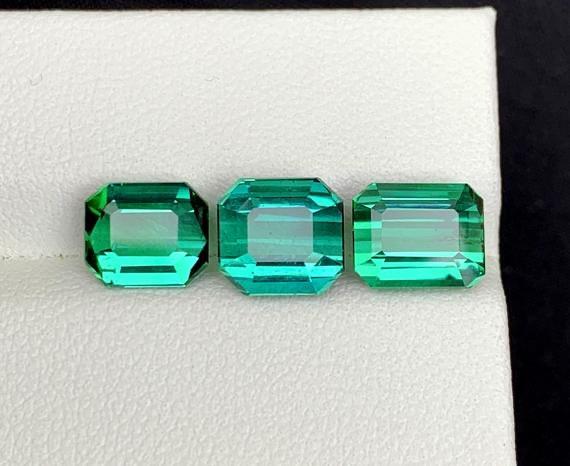 7.95 carats natural tourmalines set