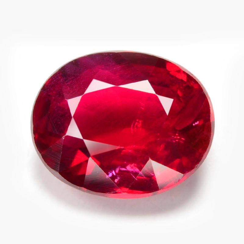 RUBY 1.15 Cts GRS CERTIFIED Unheated  VIVID Red Natural Ruby Loose Gemstone
