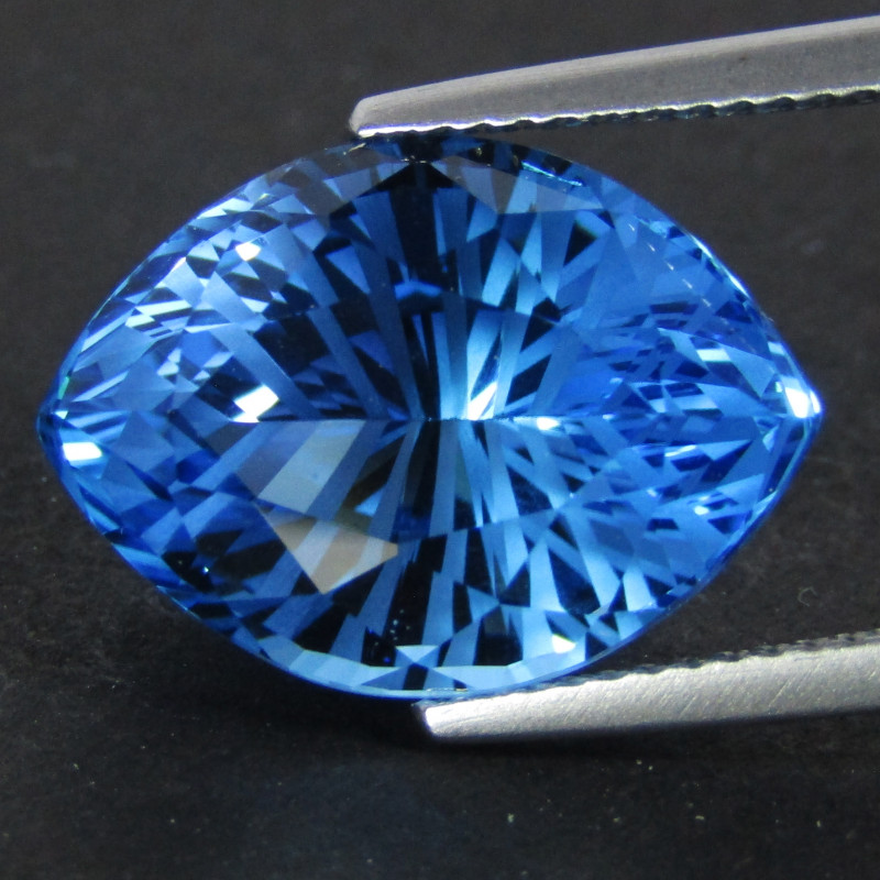 13.80Cts Sparkling Natural Swiss Blue Topaz Marquise Fancy Cut Loose Gem VI