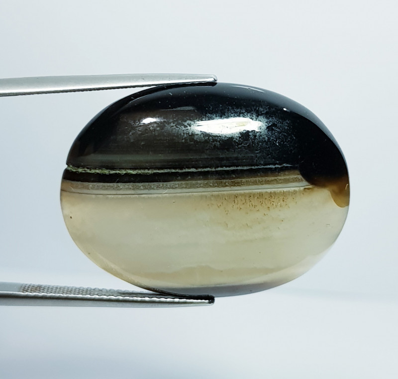 46.95 ct Natural Black Lace Agate  Oval Cabochon  Gemstone
