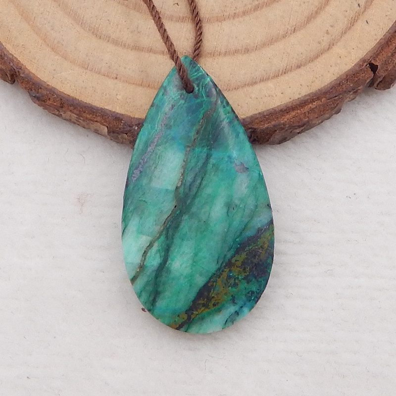 21.5cts chrysocolla pendant ,natural gemstone ,chrysocolla water drop penda