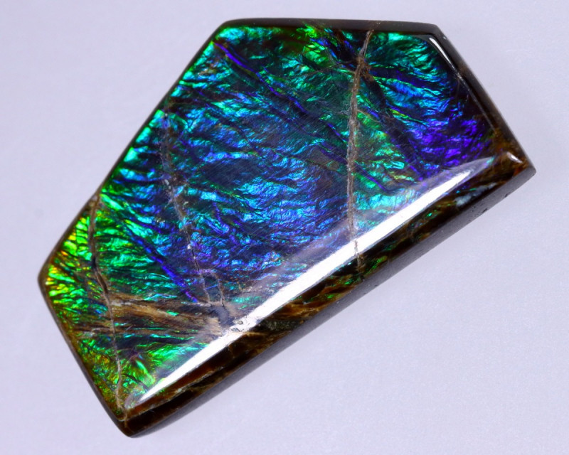 21x12mm,  10.86cts Natural Canadian Ammolite Stone / MA1846