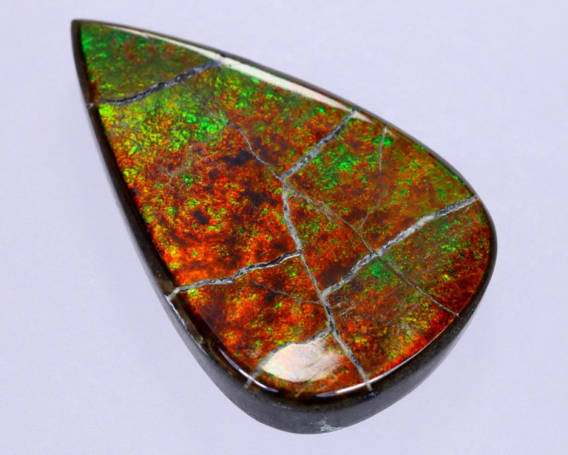 23x14mm,  13.66cts Natural Canadian Ammolite Stone / MA1815