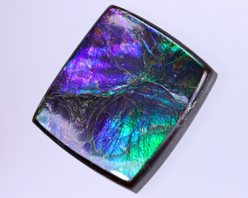 23x20mm,  30.29cts Natural Canadian Ammolite Stone / MA1829