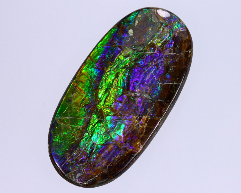 37x18mm,  36.04cts Natural Canadian Ammolite Stone / MA1837