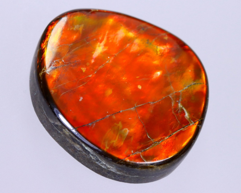 20x19mm,  22.05cts Natural Canadian Ammolite Stone / MA1838