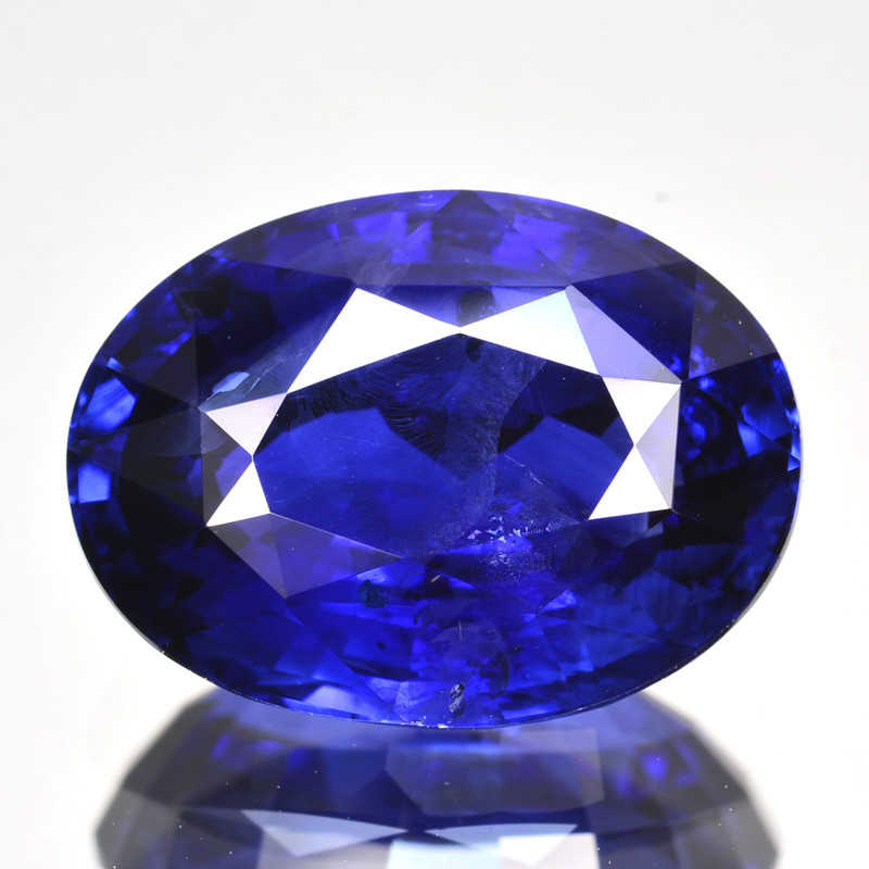 6.86 Cts Natural Corundum Sapphire Blue Oval Cut SriLanka Gem (Video A
