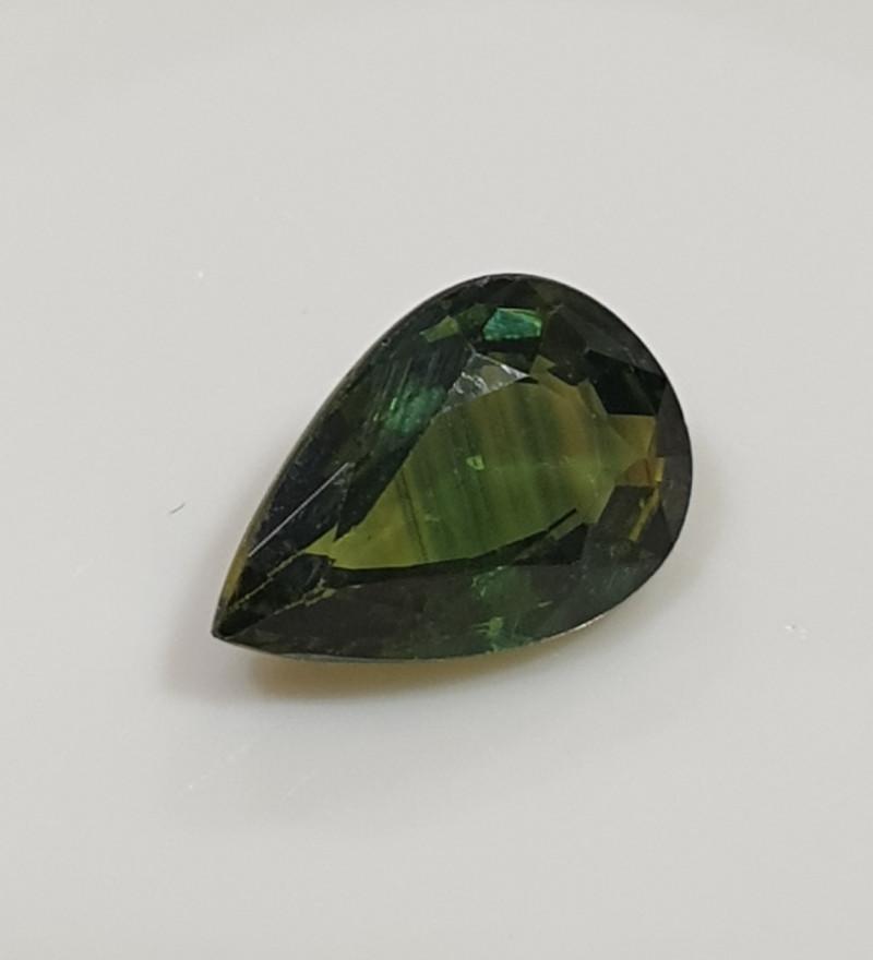 0.74Ct  Green Sapphire Faceted Drop 7x4.7mm.(SKU300)