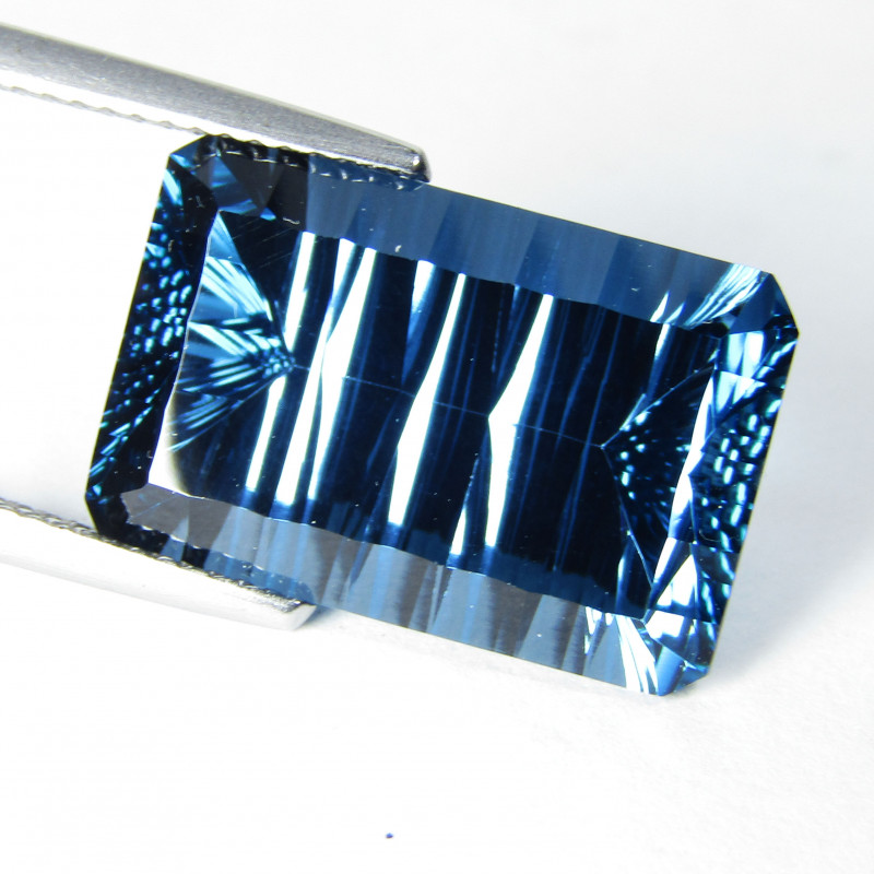 15.49Cts Sparkling Natural London Blue Topaz millennium Cut Loose Gem Video