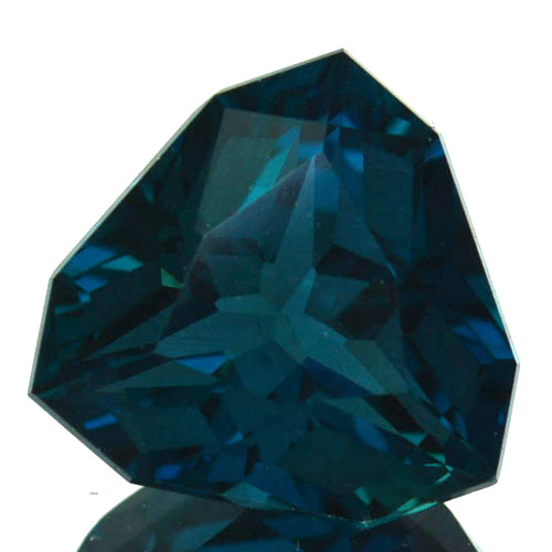 ~CUSTOM CUT~ 4.63 Cts Natural London Blue Topaz Fancy Trillion USA
