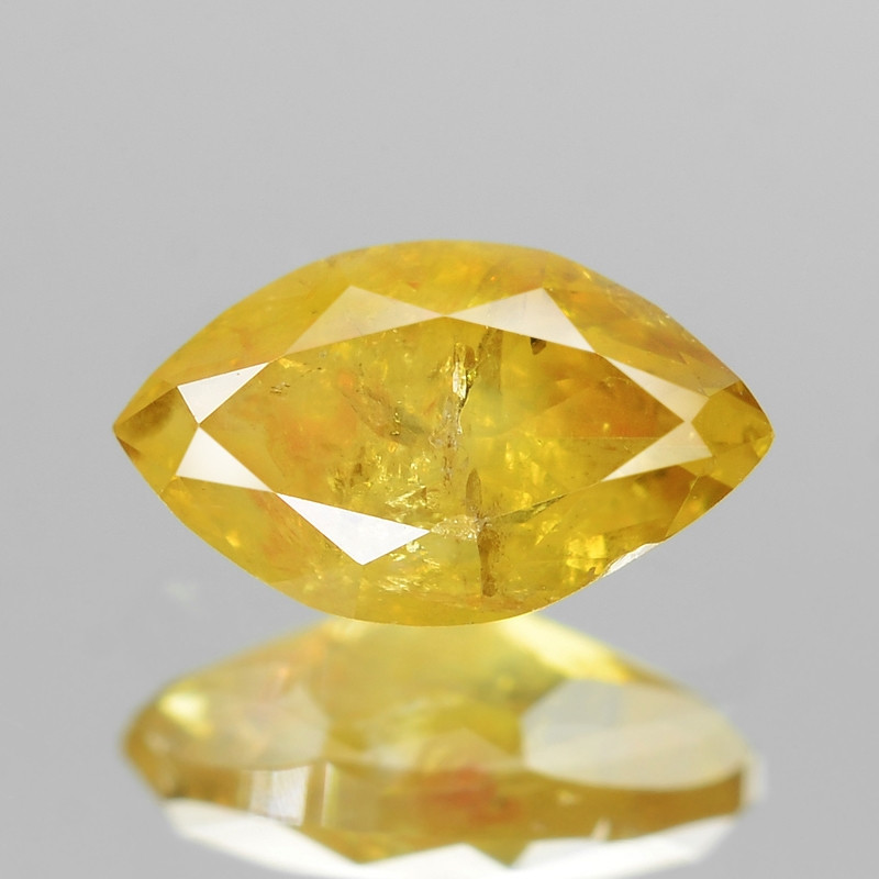 *No Reserve* VIVID YELLOW 0.37 Cts Untreated Natural Fancy Vivid Yellow Col