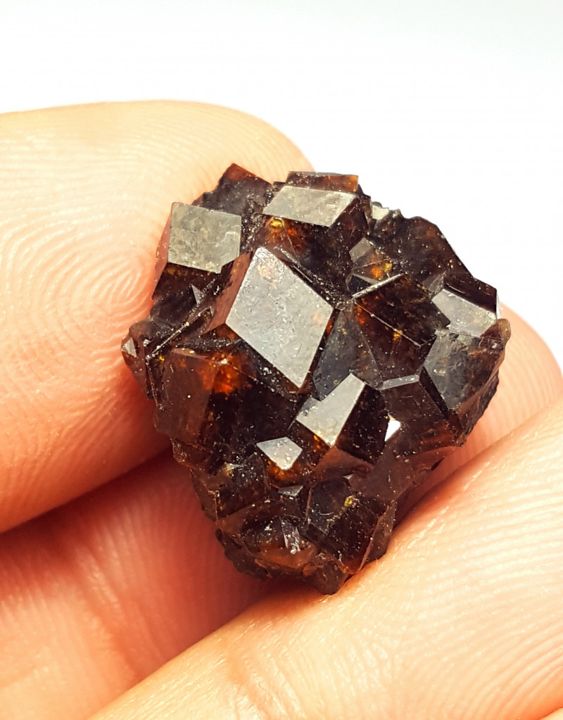 Amazing Natural color Damage free Garnet cluster have good luster 32Cts-A