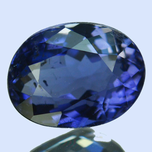 ~WONDERFUL~ 1.65 Cts Natural Blue Iolite Oval Cut Tanzania
