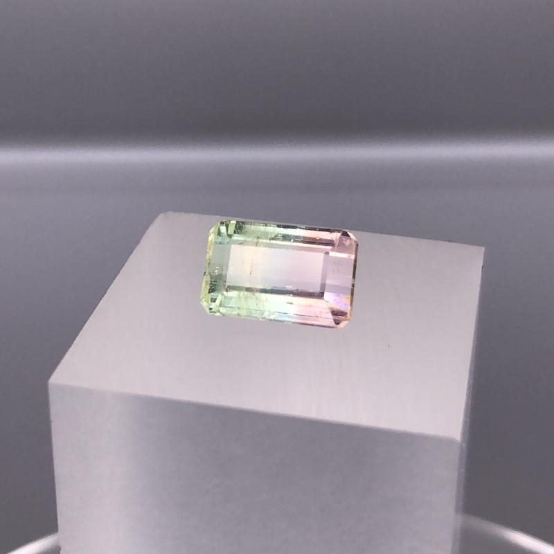 3.10 cts Natural Bi Color Tourmaline Gemstone   SKU : 27