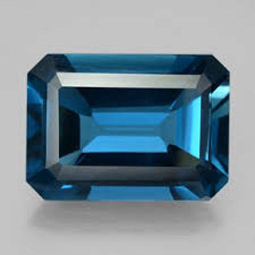 ~EMERALD CUT~ 3.63 Cts Natural London Blue Topaz Octagon USA