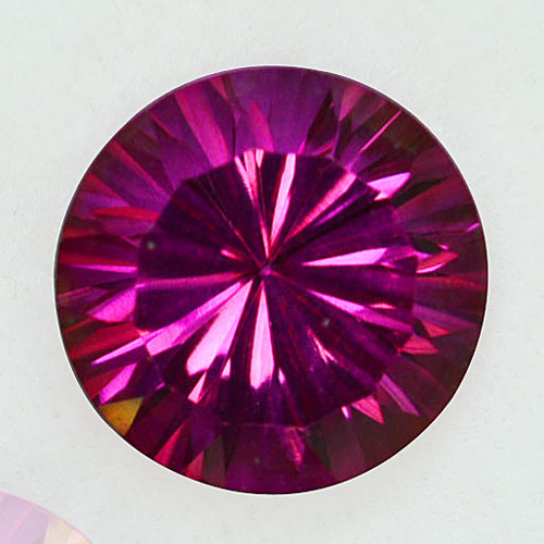 ~GORGEOUS~ 7.51 Cts Pink Natural Topaz 12mm Round Cut Brazil