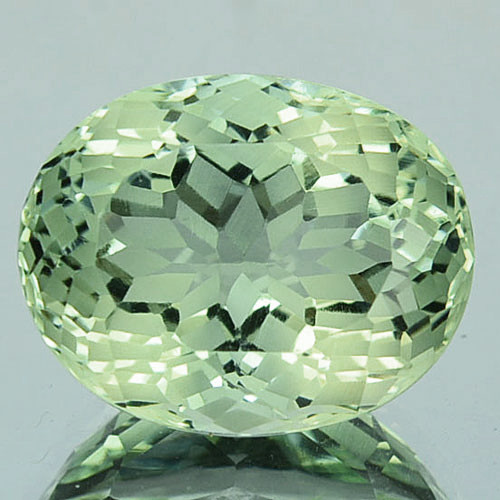 ~CUSTOM CUT~ 5.75 Cts Natural Green Prasiolite/Amethyst Fancy Oval Brazil
