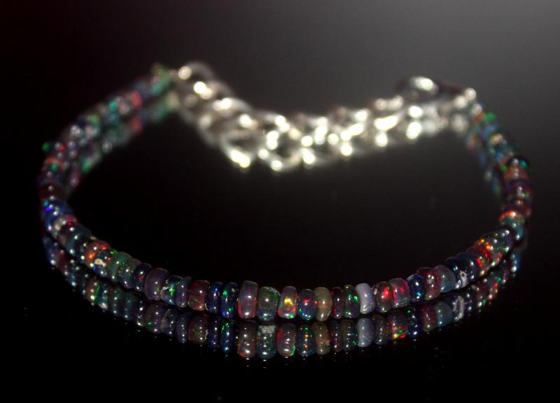 14.10 Crt Natural Ethiopian Welo Smoked Opal Bracelet 26