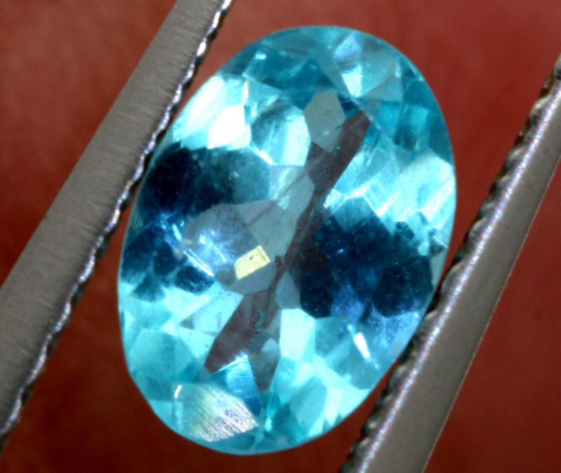 0.65  CTS  BLUE ZIRCON FACETED STONE  PG-461 PRECIOUSEGEMS