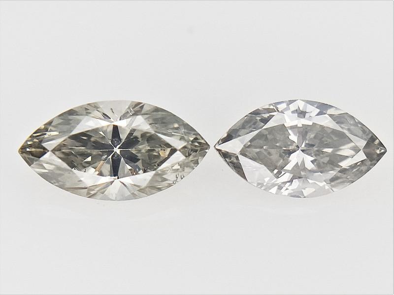 0.42 cts fancy Natural Diamond , Unique Shaped Diamond