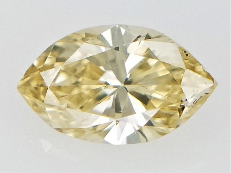 0.21 cts , Yellow Natural Diamond , Loose Sparkling Diamond