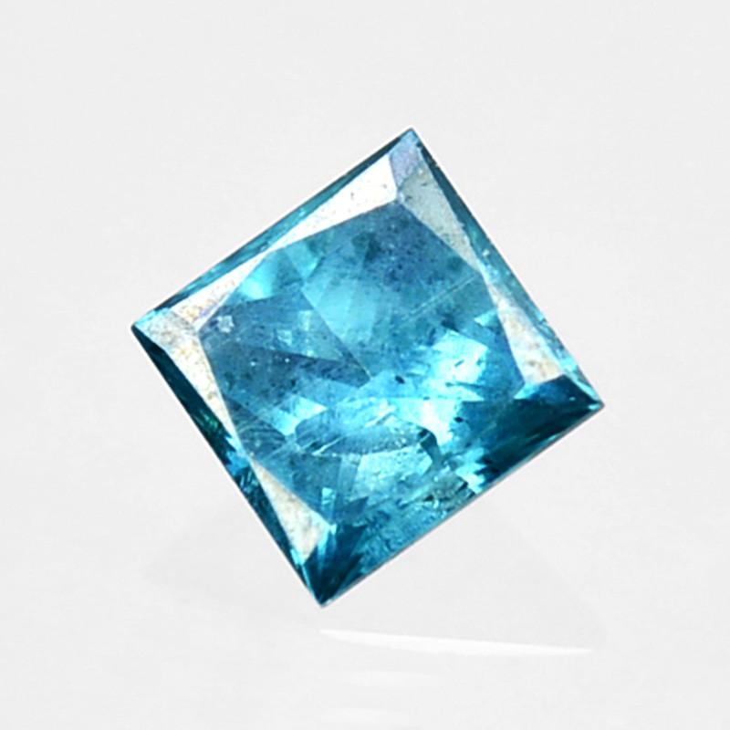 0.07 Cts Natural Flashing Blue Diamond Princess Cut 2.2mm Africa