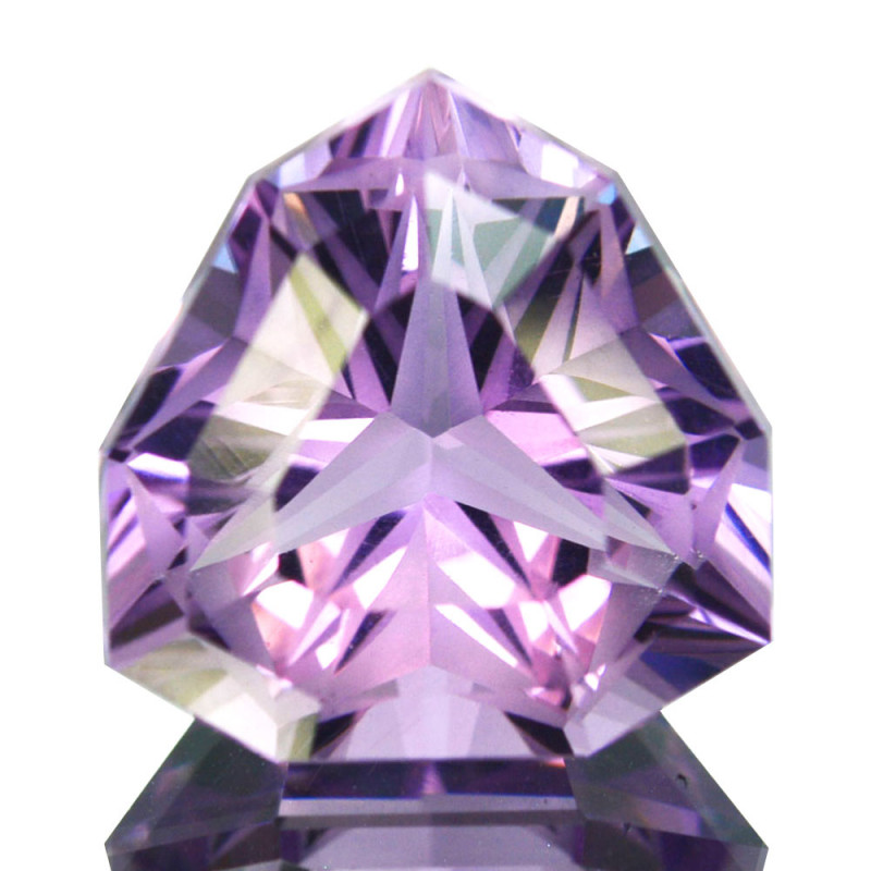 ~CUSTOM CUT~ 7.02 Cts Natural Purple Amethyst Fancy Trillion Bolivia